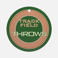 Track and Field Throws Ornament (Round)