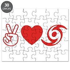 Peace Love Hurricane Survivor Puzzle