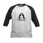Garden penguin Kids Baseball Jersey