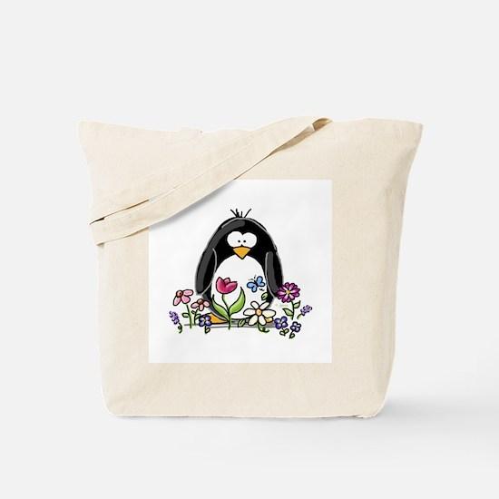 Garden penguin Tote Bag