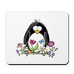 Garden penguin Mousepad