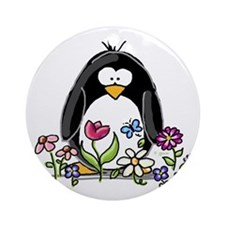 Garden penguin Ornament (Round)