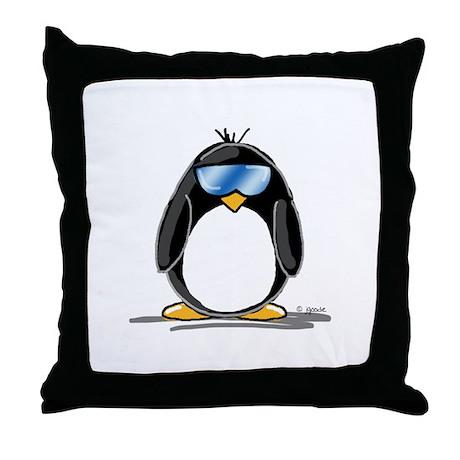 Cool penguin Throw Pillow