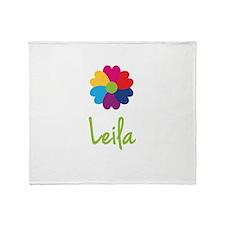Leila Valentine Flower Throw Blanket