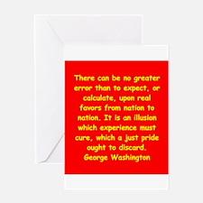 george washington Greeting Card