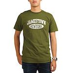 Jamestown New York Organic Men's T-Shirt (dark)