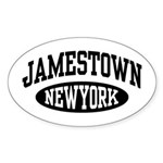 Jamestown New York Sticker (Oval)