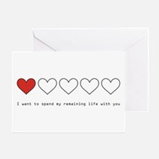 Spend My Remaining Life With Greeting Card