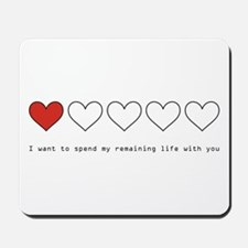 Spend My Remaining Life With Mousepad