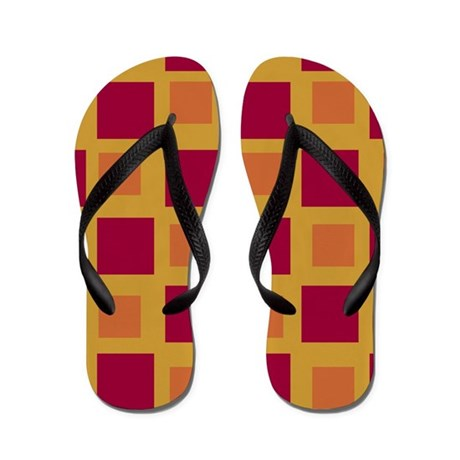 Gold and Red ColorblocksFlip Flops