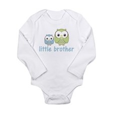 Blue/Green Little Brother Owl Long Sleeve Infant B