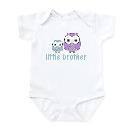 Blue/Purple Little Brother Ow Infant Bodysuit
