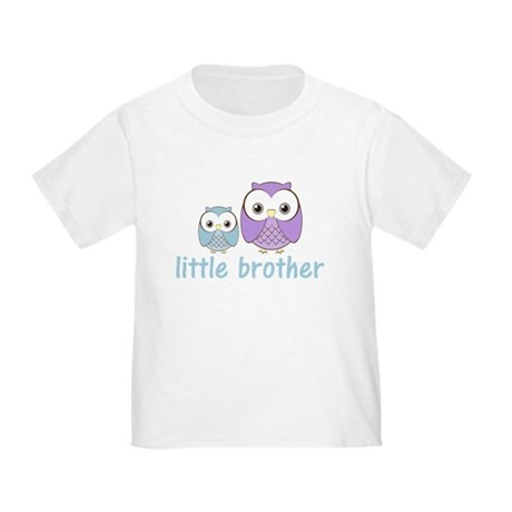 Blue/Purple Little Brother Ow Toddler T-Shirt