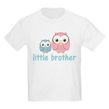 Blue/Pink Little Brother Owls T-Shirt