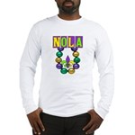 NOLA Mardi Gras Long Sleeve T-Shirt