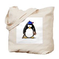 Baseball penguin Tote Bag