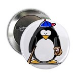 Baseball penguin Button