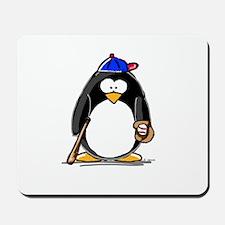 Baseball penguin Mousepad