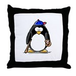 Baseball penguin Throw Pillow