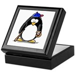 Baseball penguin Keepsake Box
