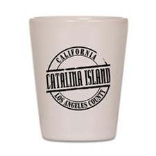 Catalina Island Title Shot Glass