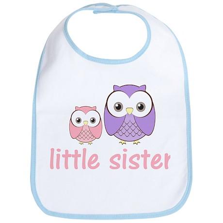 Pink/Purple Little Sister Owl Bib