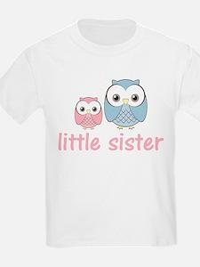 Pink/Blue Little Sister Owl T-Shirt