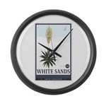 National Parks - White Sands 2 1 Large Wall Clock