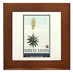 National Parks - White Sands 2 1 Framed Tile