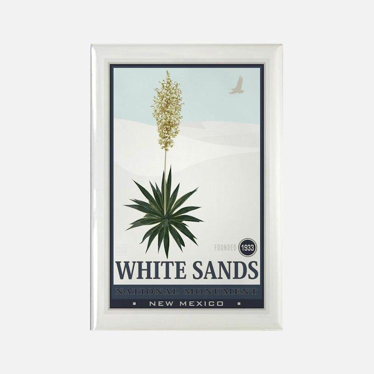 National Parks - White Sands 2 1 Rectangle Magnet