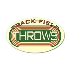Track and Field Throws 22x14 Oval Wall Peel
