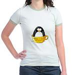 Coffee penguin Jr. Ringer T-Shirt