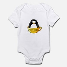 Coffee penguin Infant Creeper