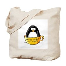 Coffee penguin Tote Bag