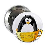 Coffee penguin Button