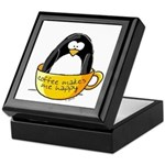 Coffee penguin Keepsake Box
