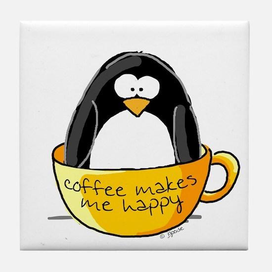 Coffee penguin Tile Coaster