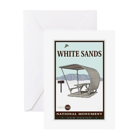 National Parks - White Sands 4 Greeting Card