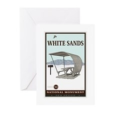National Parks - White Sands 4 Greeting Cards (Pk