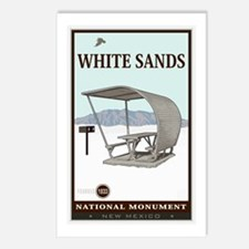 National Parks - White Sands 4 Postcards (Package