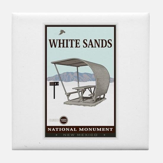 National Parks - White Sands 4 Tile Coaster