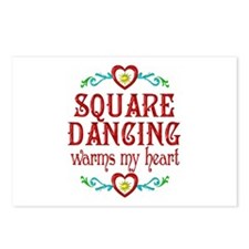 Square Dancing Heart Postcards (Package of 8)