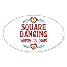 Square Dancing Heart Decal