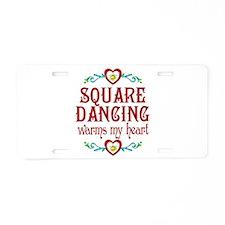 Square Dancing Heart Aluminum License Plate