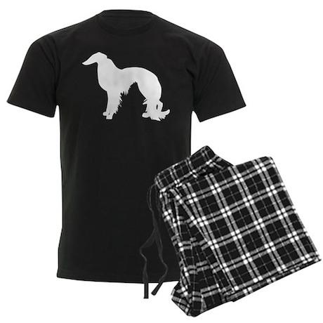 Irish Setter Silhouette Men's Dark Pajamas