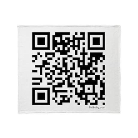 Mrs. Edward Cullen QR Code Throw Blanket