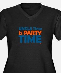 Uncle Time is Party Time Women's Plus Size V-Neck