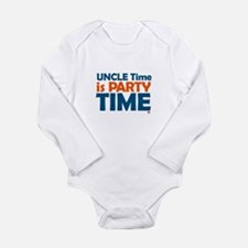 Uncle Time is Party Time Long Sleeve Infant Bodysu