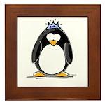 Princess penguin Framed Tile