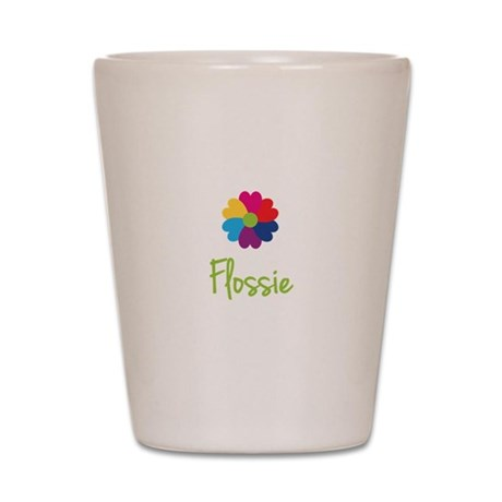 Flossie Valentine Flower Shot Glass